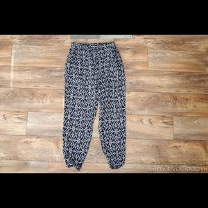 Roxy Beach Lounge Pants Boho Black Women's Size S